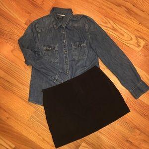 Lot of 2: Black & khaki mini skirts